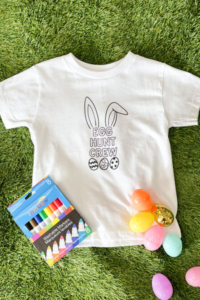 Kid Coloring Egg Hunt Crew Tee - ShopSpoiled