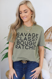 Savage, Classy, Ratchet Graphic Tee - ShopSpoiled
