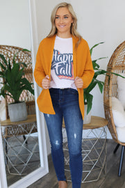 All I Really Want Cardigan: Mustard - ShopSpoiled