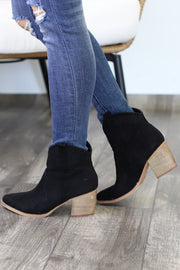 Press Replay Booties: Black - ShopSpoiled