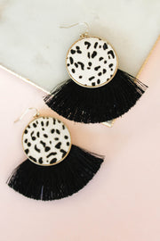 Romy Earring: Black/White - ShopSpoiled