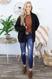 All I Really Want Cardigan: Black - Shop Spoiled Boutique