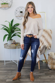 Anywhere With You Pullover: Oatmeal - ShopSpoiled