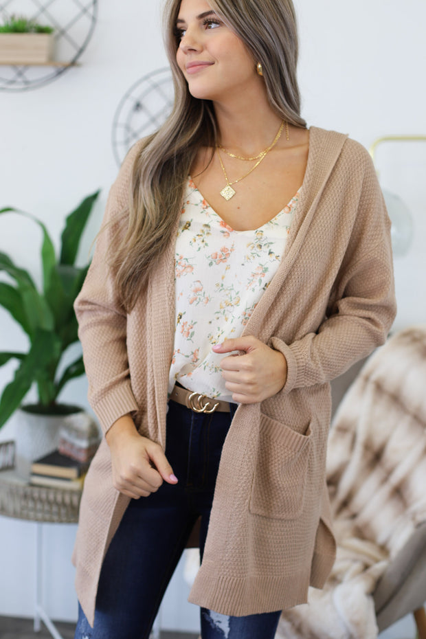 Days Like These Cardigan: Taupe - ShopSpoiled