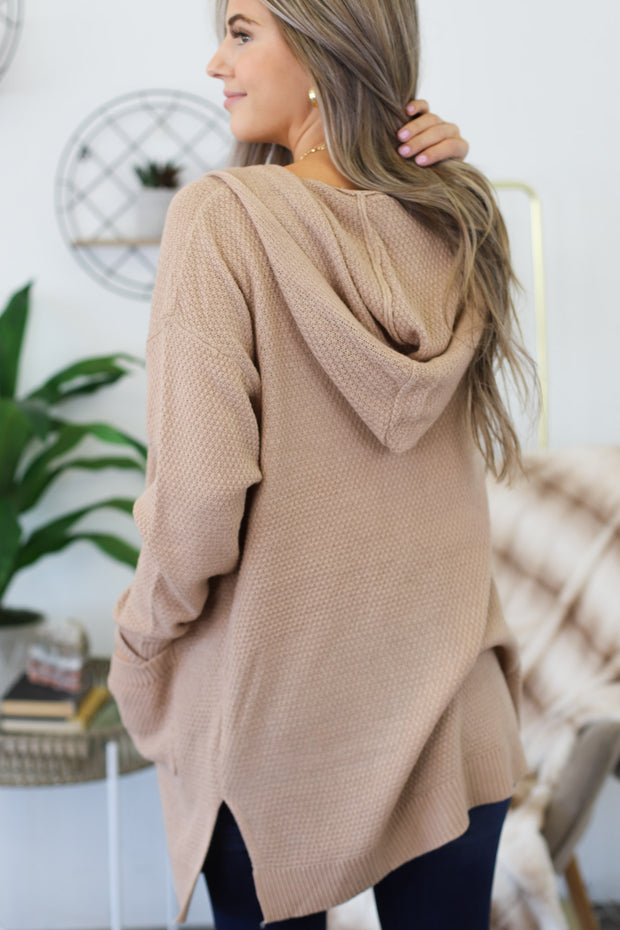 Days Like These Cardigan: Taupe - Shop Spoiled Boutique