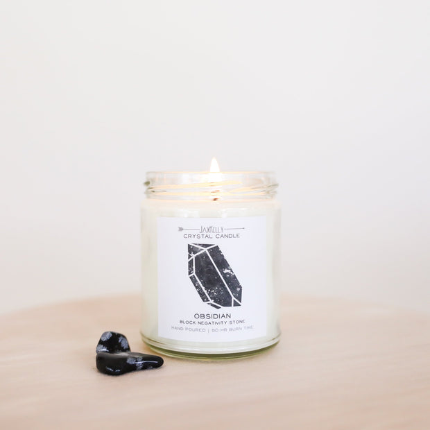Obsidian Crystal 9oz Candle - ShopSpoiled