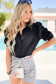 Chic Look Top: Black - ShopSpoiled