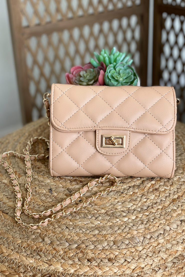 Lets Go Girls Purse: Nude - ShopSpoiled