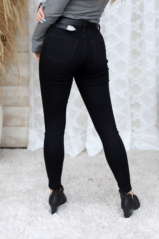 Reba High Rise Black Jeans - ShopSpoiled