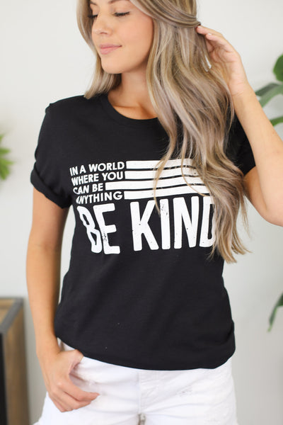 Be Kind Tee: Black - Shop Spoiled Boutique