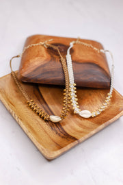 Puka Shell Breaded Chocker: Brown - Shop Spoiled Boutique