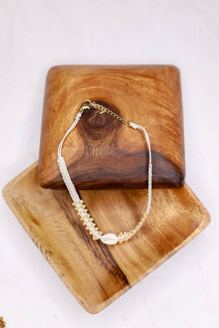 Puka Shell Breaded Chocker: Cream - ShopSpoiled