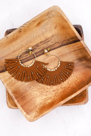 Venice Vacay Earrings: Tan - ShopSpoiled