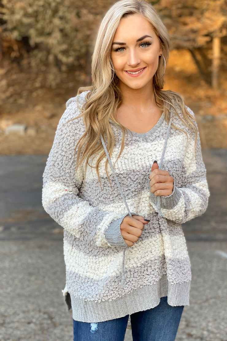 Happy Holidays Sweater: Grey - ShopSpoiled