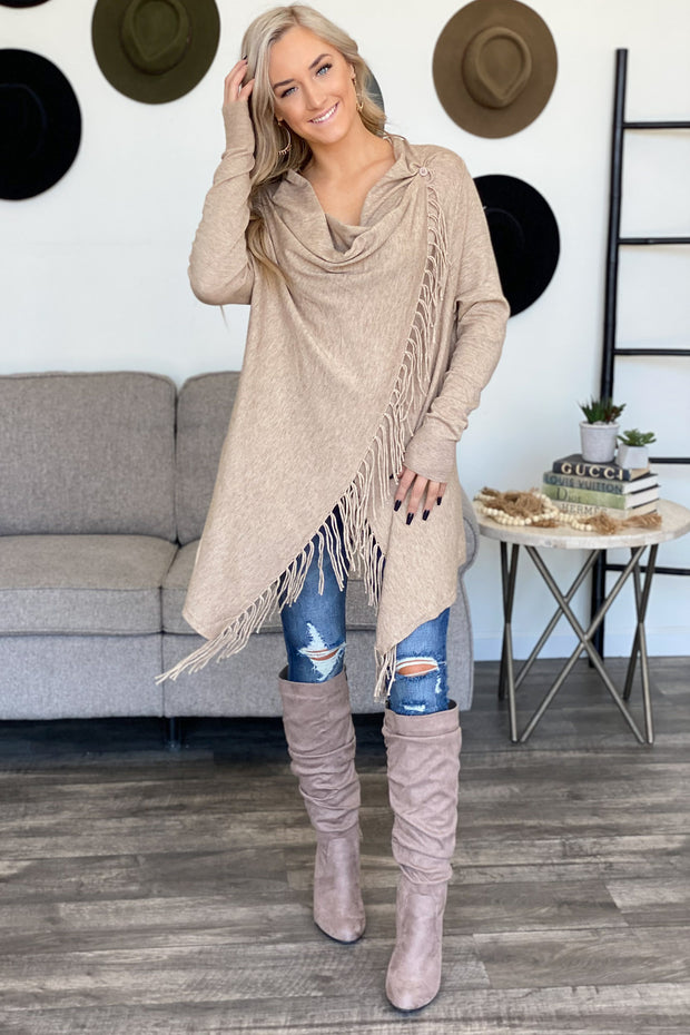 After All Cardigan: Oatmeal - ShopSpoiled