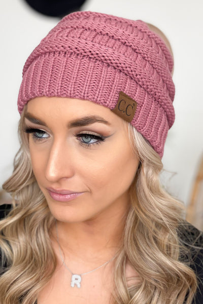 Basic CC Beanie: Rose - ShopSpoiled