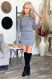 Dearest Love Dress: Grey - ShopSpoiled