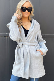 Dressed for Excellence Coat: Light Grey - ShopSpoiled