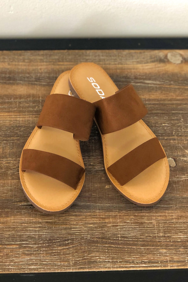 Allie Sandals: Tan - ShopSpoiled