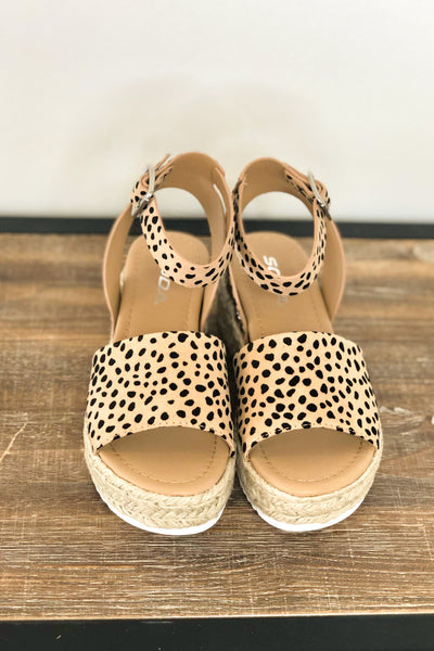 Lela cheetah Platform Sandals - ShopSpoiled