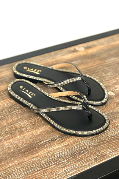 Honey Sandals: Black - ShopSpoiled