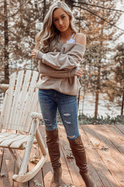 Crushing It Sweater: Taupe - ShopSpoiled