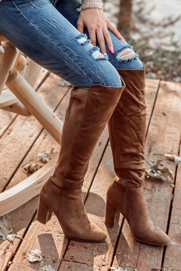 Whiskey Girl Boots: Taupe - ShopSpoiled