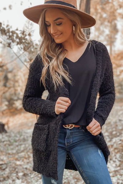 Only In Dreams Cardigan: Black - ShopSpoiled