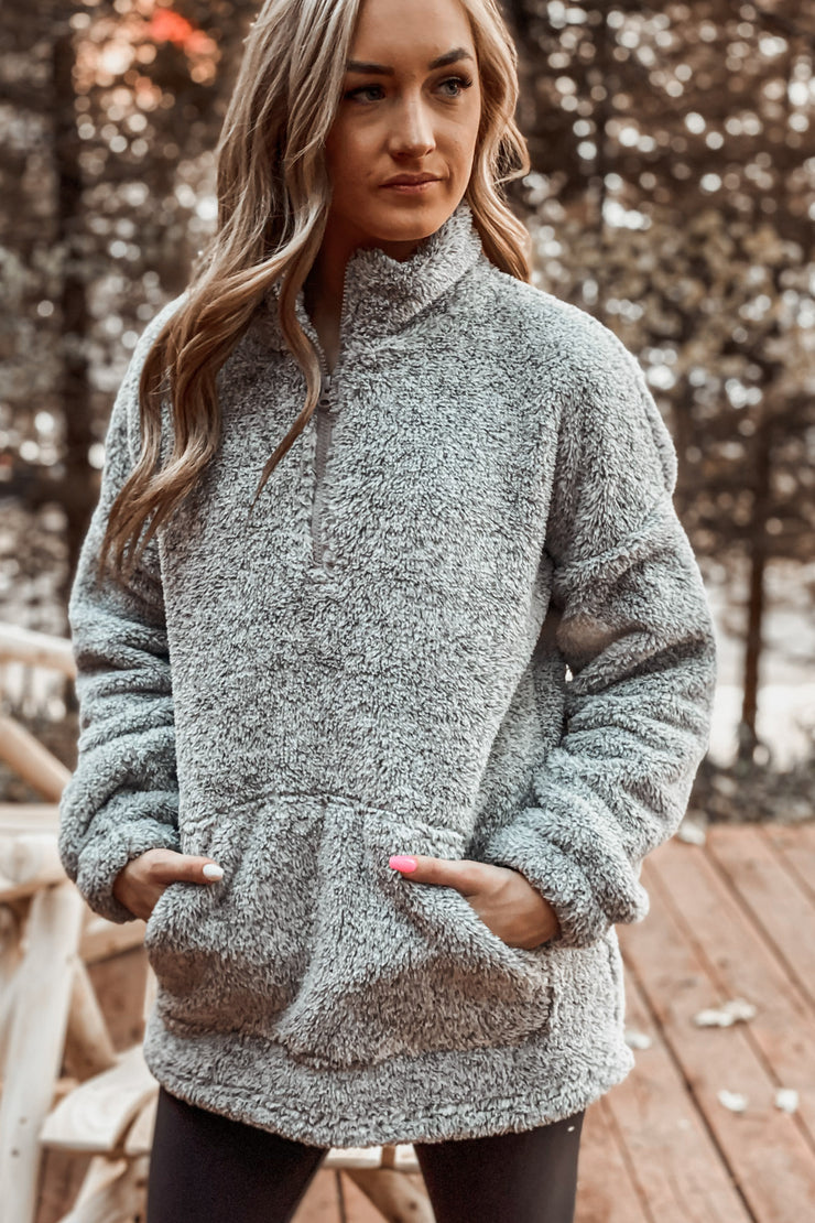 Set The Tone Pullover: Gray - ShopSpoiled