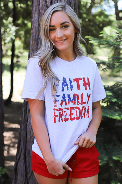 Faith, Family & Freedom Tee - Shop Spoiled Boutique