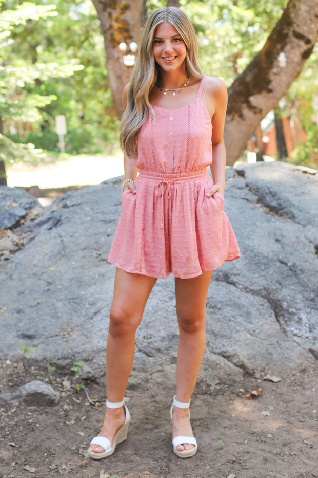 Last kiss romper: Pink - ShopSpoiled