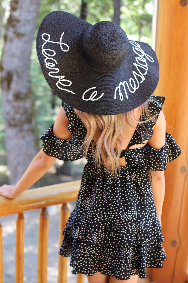 Leave A Message Sun hat - ShopSpoiled