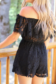 In the details Romper: Black - ShopSpoiled