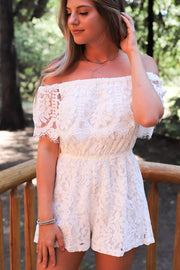 In the details Romper: White - ShopSpoiled