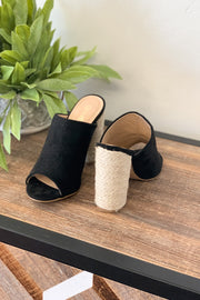 Nicole Heeled Mule: Black - ShopSpoiled