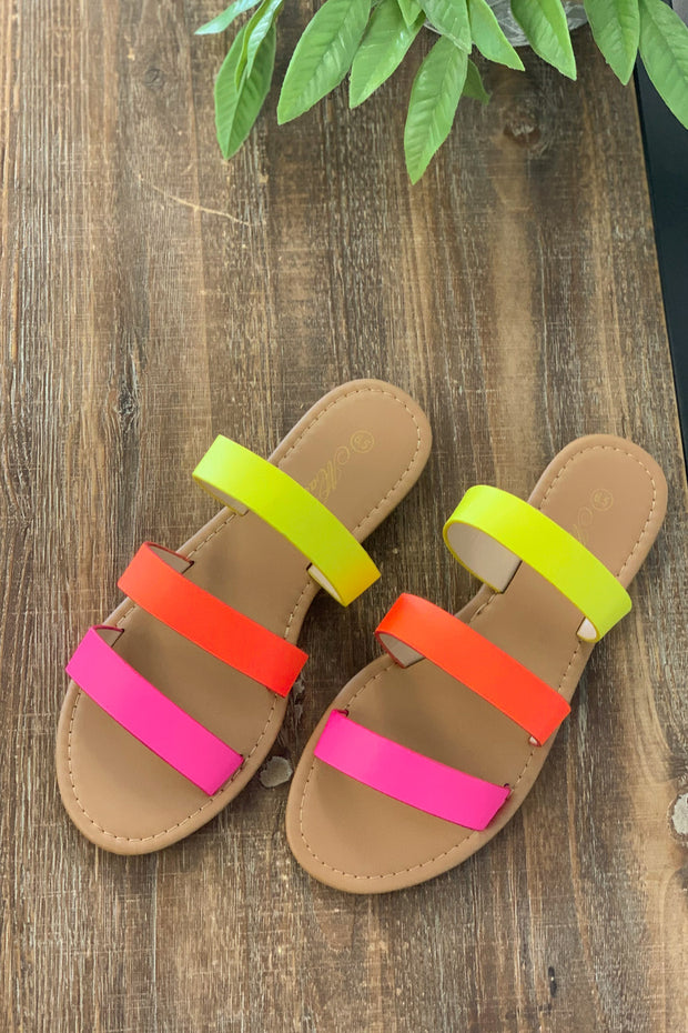 Nova Neon Sandals - Shop Spoiled Boutique
