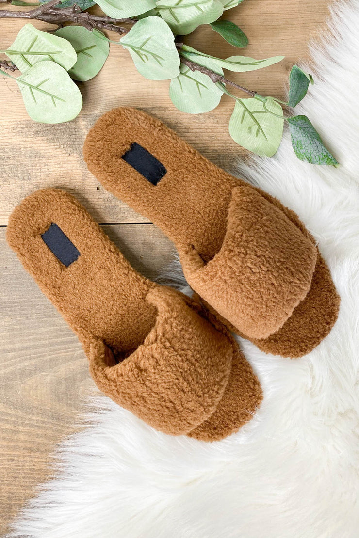 Upbeat Slippers: Tan - ShopSpoiled