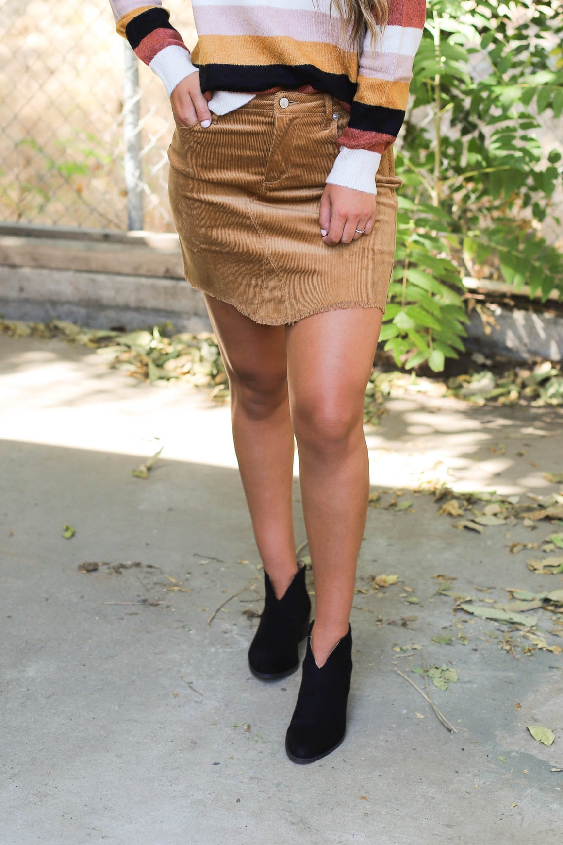 Tessa Skirt: Camel - ShopSpoiled