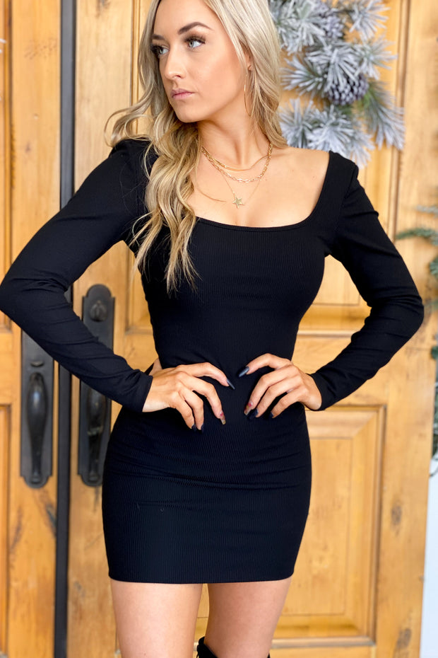 Cocktail Hour Dress: Black - ShopSpoiled