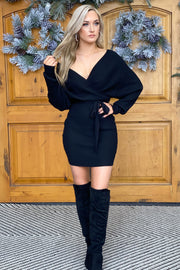Chic Style Dress: Black - ShopSpoiled