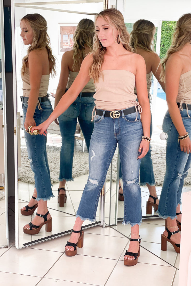 Dallas Cropped Jeans - ShopSpoiled