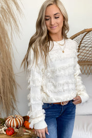 Shake It Off Sweater: Ivory - ShopSpoiled