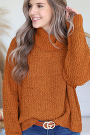 Sweet Bliss Sweater: Cinnamon - ShopSpoiled