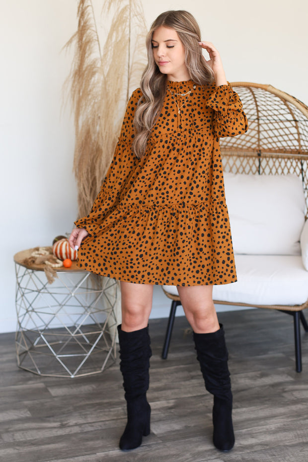 New Love Dress: Camel - ShopSpoiled