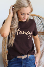 Honey Script Graphic Tee - ShopSpoiled