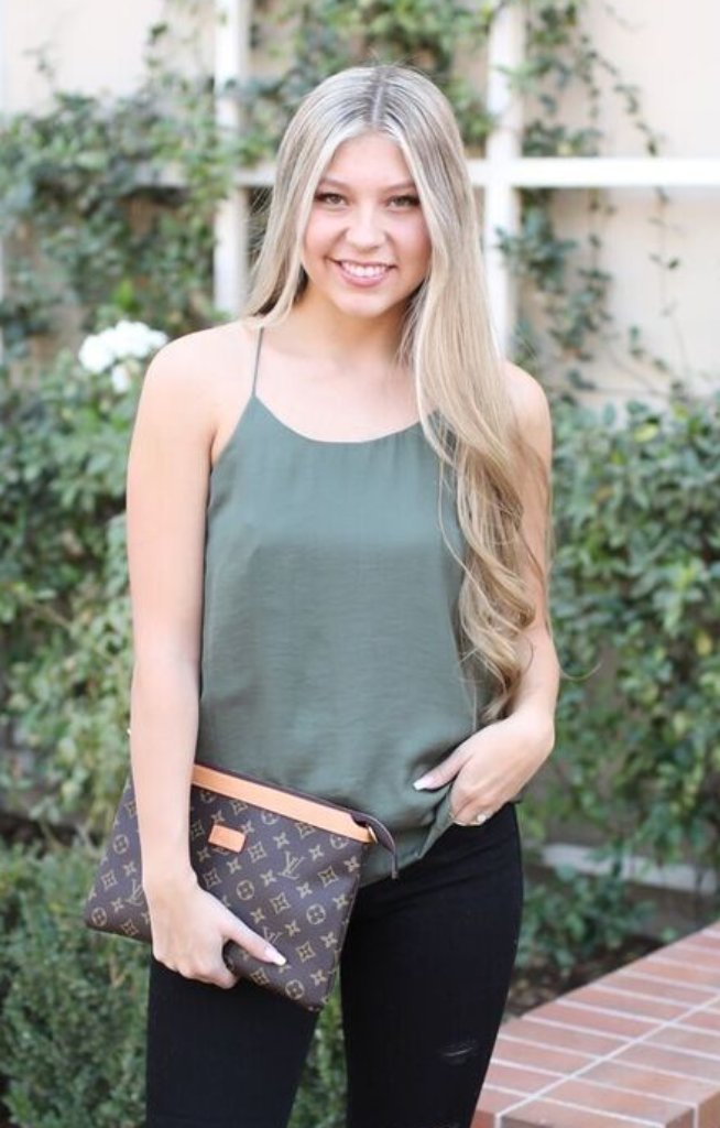 Tis The Season Top: Dusty Olive - ShopSpoiled