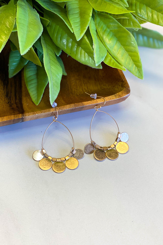 Carefree Coin Earrings: Gold - ShopSpoiled