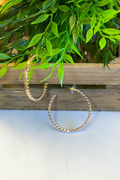 Got The Looks Hoop Earrings: Gold - ShopSpoiled