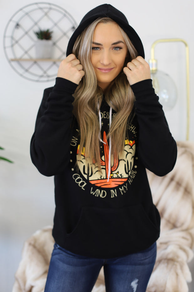 Desert Highway Hoodie - Shop Spoiled Boutique