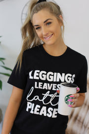 Leggings, Leaves & Lattes Graphic Tee - Shop Spoiled Boutique